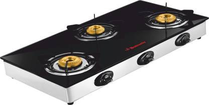 Butterfly Jet Stainless Steel Manual Gas Stove  (3 Burners)