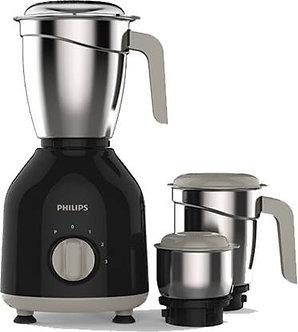Philips Daily Collection HL7756/00 750 W Mixer Grinder  (Black, 3 Jars)