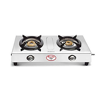 Preethi Fino Stainless Steel 2-Burner Gas Stove