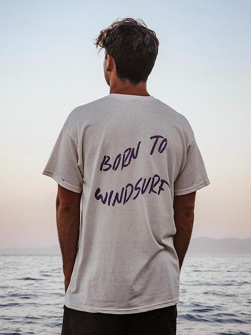 T-shirt Born to Windsurf