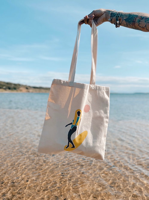 Tote bag surfeuse