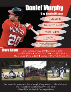 Daniel Murphy Baseball Camp Flier