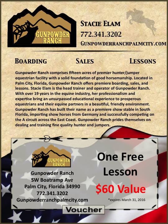 Gunpowder lesson voucher