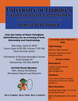 GCCW Beef Dinner 2016 Flier