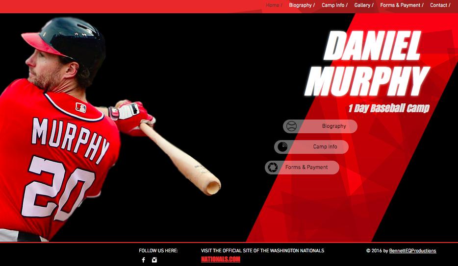 Daniel Murphy Baseball Camp Website