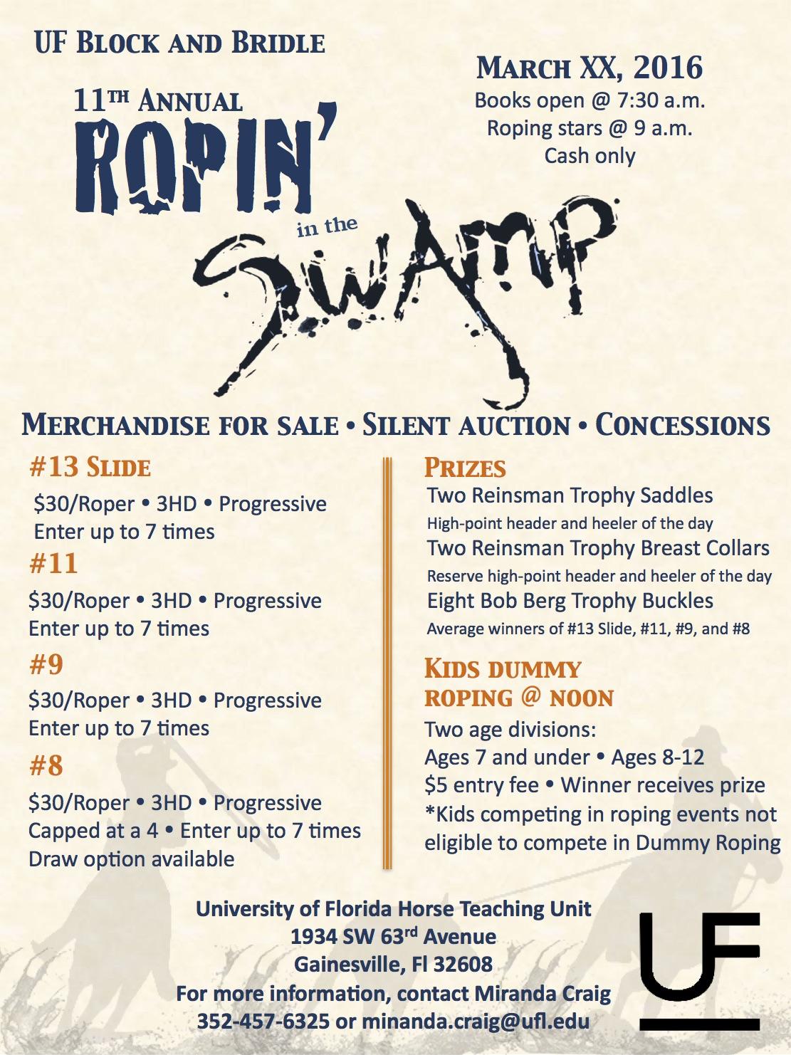 Ropin' in the Swamp Flier Design 1
