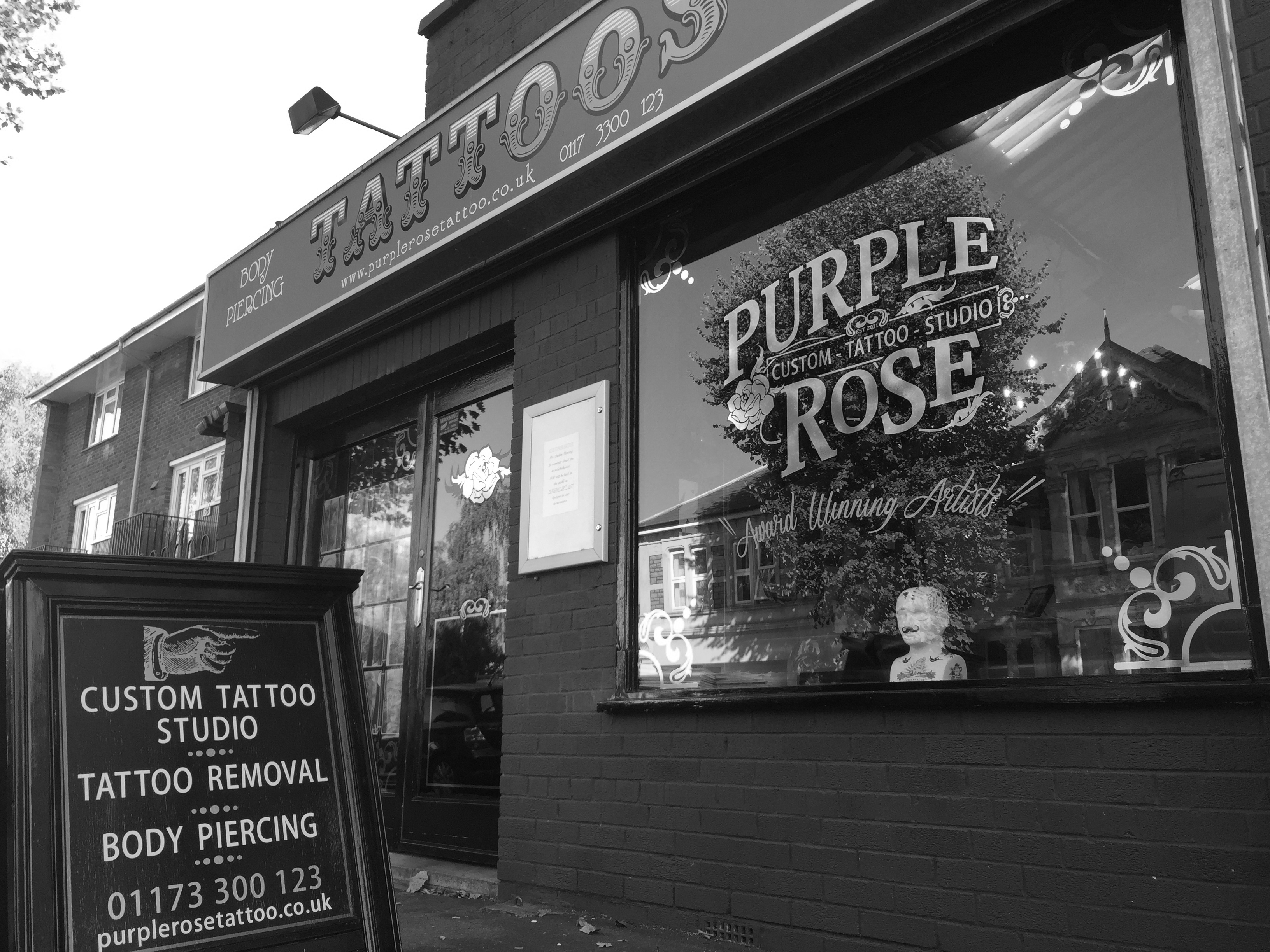 52269496c282a Tattoo | City of Bristol | Purple Rose Tattoo