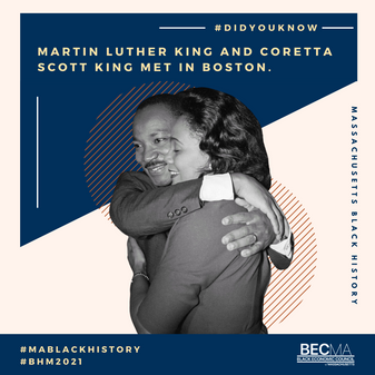 #BlackHistoryMonth 2021 MLK Jr. and Coretta Scott King Design Feature for BECMA