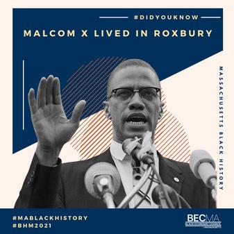 #BlackHistoryMonth 2021 Malcom X Design Feature for BECMA