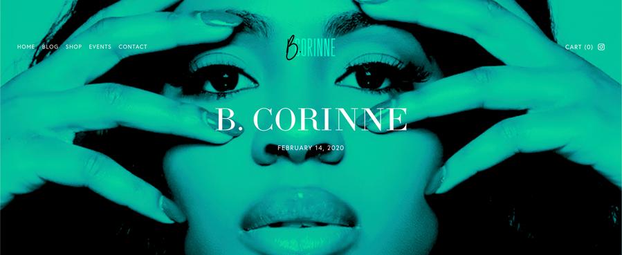 B. Corinne - Entrepreneur and Model