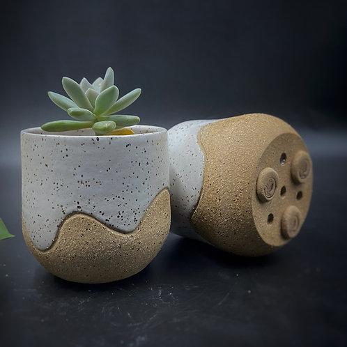 Gris Gris - Wave Planter - White