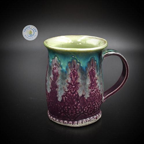 Twists of Life, Twists of Life Mugs, Twists of Life Ceramic Mugs, Ceramic Mugs, Mugs, Purple & Green Mugs