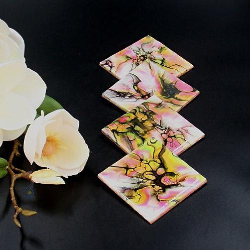 Coaster Set (4 pcs) - Bright Fluo