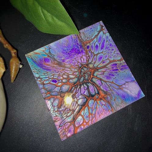 Coaster Set (4 pcs) - Purple Peacock