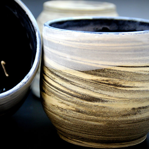 Marbled Cups - Black & White
