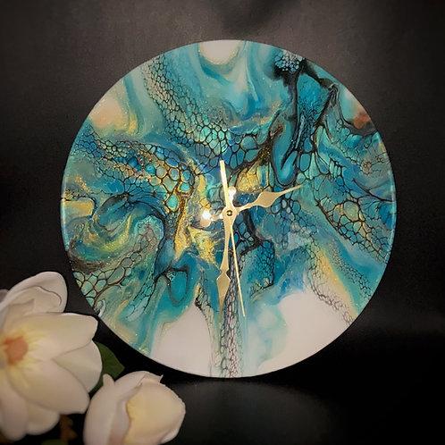 Swipy - Blue Aurora Clock