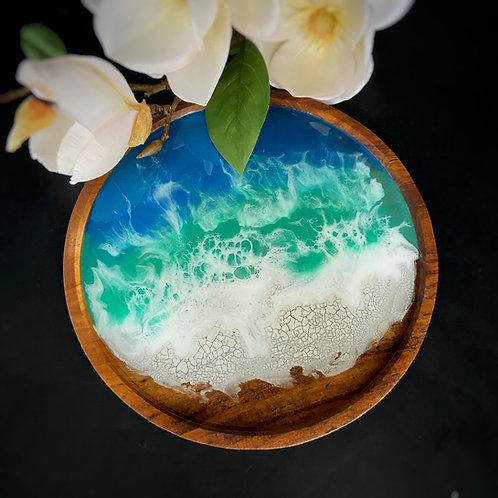 Art on Teak - Tropical Ocean - Merapi (Large)