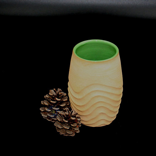 Bronte - Small Green Vase