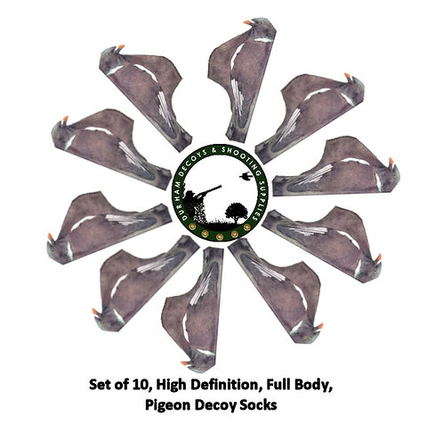 High Def' Full Body Pigeon Decoy Sock, No shine, lifelike, washable, stretch material, Durham Decoys & Shooting Supplies.