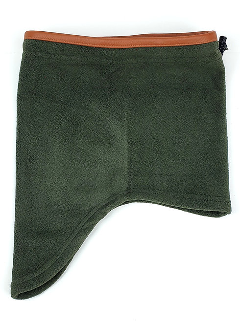 Fleece Headover, Leather Trim