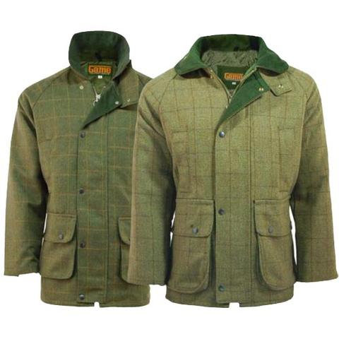Game - Derby Tweed Jacket available from Durham Decoys in sizes XS-3XL, in colours Fife or Bute. Matching Waistcoat, breeks.