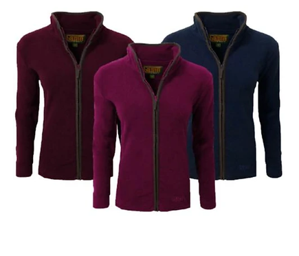 Game, Ladies Penrith Fleece Jacket, available from www.durhamdecoys.com (Navy, Maroon & Rose Colours), sizes XS to XL