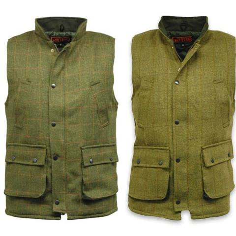 Game - Tweed Gilet in Fife or Bute Pattern, sizes XS-3XL, matches Breeks, Cap Jacket from www.durhamdecoys.com