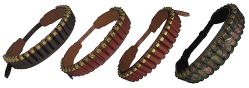 Leather Cartridge Belt-12g or 20g, Various colours & styles