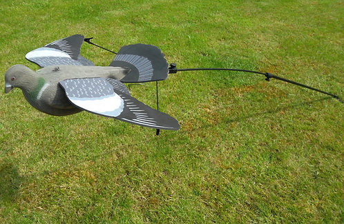 Terminator Pigeon Decoy with Steel & Glass Pole & Wing Spreader for Dead Bird Decoy.