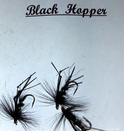 Trout Flies, Black Hopper.