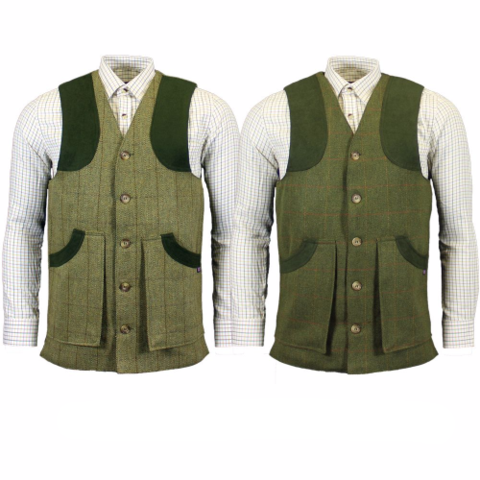 Game - Ashford Tweed waistcoat, BUte or Fife Pattern, available from Durham decoys & Shooting Supplies