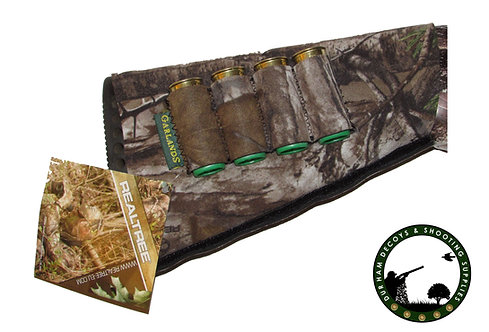 Realtree, neoprene stock cover with cartridge holders