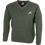Jack Pyke Shooters Pullover, sage green with shoulder pads and pheasant motif