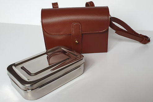 Equestrian Saddle Box for Tools or Sandwiches, Top Grain leather, available from Durham Decoys & Shooting Supplies-One Only