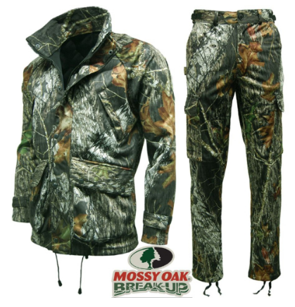 Stormkloth Mossy Oak, Break Up Jacket & trousers, Water & Windproof, micro fleece lined jacket, 6 pockets