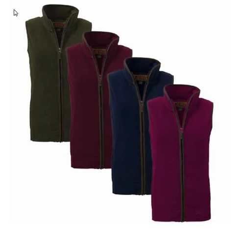 Game, Ladies Penrith Gilet, available from www.durhamdecoys.com, (Forest Green, Maroon, Rose & Navy)