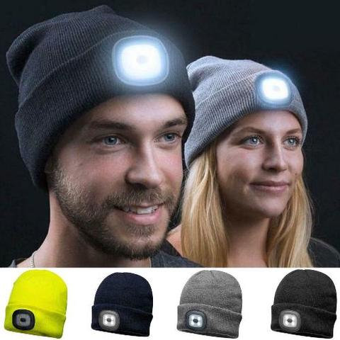LED Beanie Hat, 100& Polyester, Ideal for Dusk Dog Walking or Exercise. Available from Durham Decoys & Shooting Supplies.