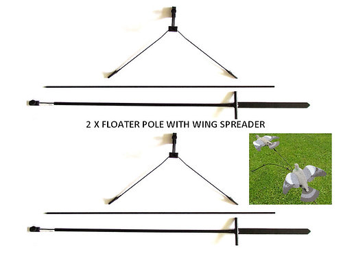 Steel & Fibre Glass Floater Pole with wing spreader, set of 2, from Durham Decoys & Shooting Supplies