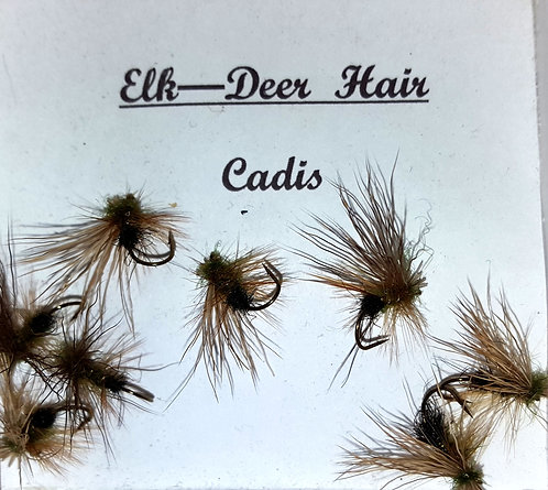Trout Flies, Deer hair Caddis