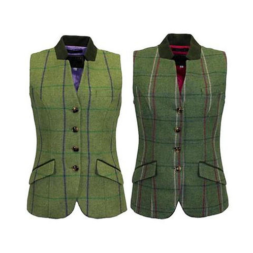 Ladies Margate Tweed Waistcoat from Game Technical Apparel - Available from Durham Decoys & Shooting Supplies