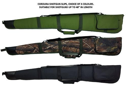 "Shotgun slip - 600D cordura, in a choice of 3 colours, Black, Green or Camo' Will take a Shotgun up to 48"" long"