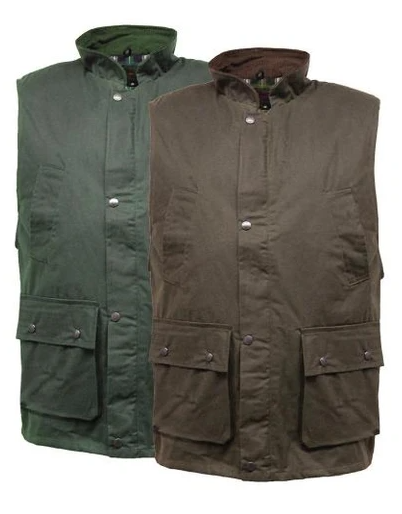 Wax Gilet By Game Technical Apparel. Available in Brown or Olive, Sizes S-3XL from www.durhamdecoys.com