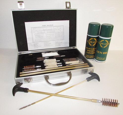 Multi purpose shotgun/rifle cleaning kit in aluminium case