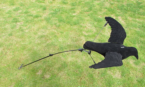 FLYING CROW DECOY WITH OR WITHOUT FLOATER POLE