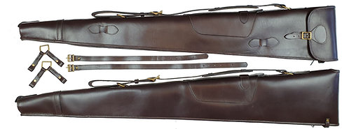 Leather Double Shotgun Slip -Convertible