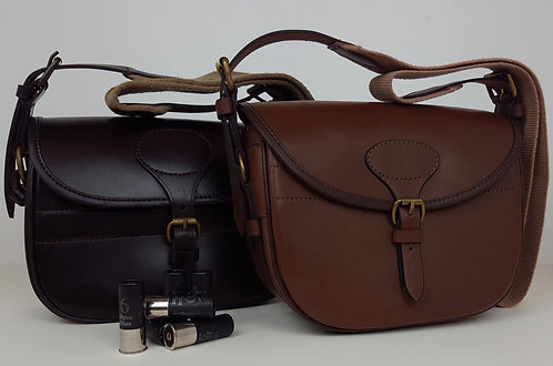 Leather Cartridge Bag - 100/75 Cartridges