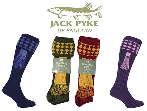 Jack Pyke Shooting Socks with matching gaiter, Various Colours.
