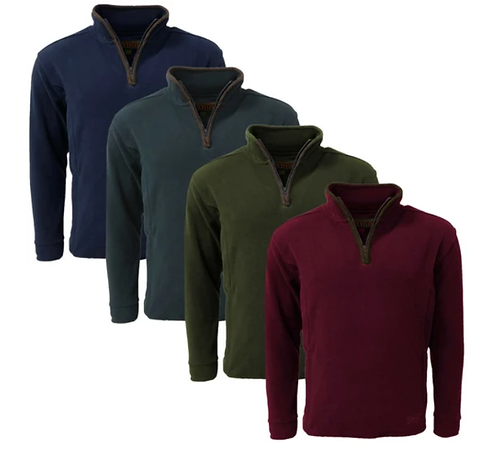 Game Stanton Fleece Pullover, available from Durham Decoys & Shooting Supplies (Navy, Maroon, Green & Gun metal Grey)