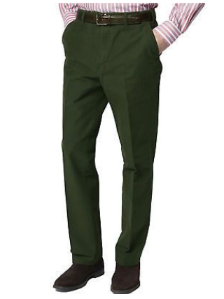 Brentwood, Olive Green Moleskin Trousers from Durham Decoys & Shooting Supplies