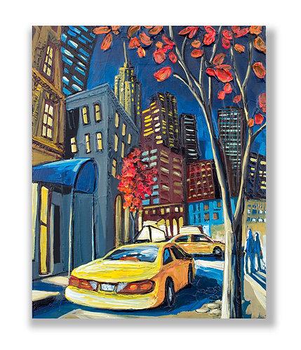 New York city original art by Freitas